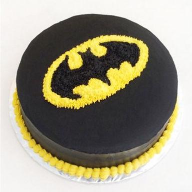 Batman Fondant Cake with Cream Logo