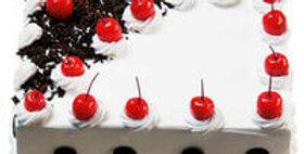 Vanilla Cream Black Forest Cake