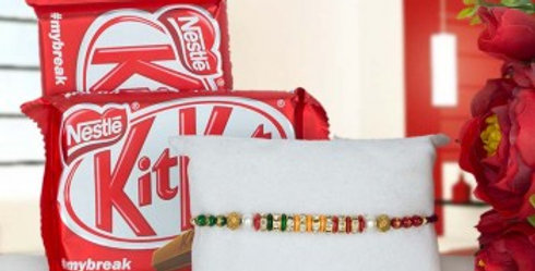 Double Kitkat and Single Rakhi Combo
