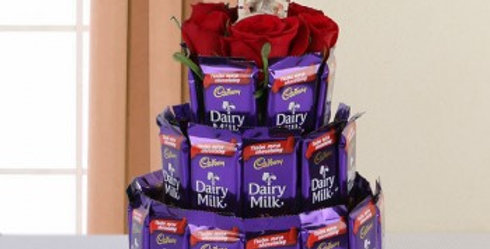Red Roses and Dairy Milk Tower