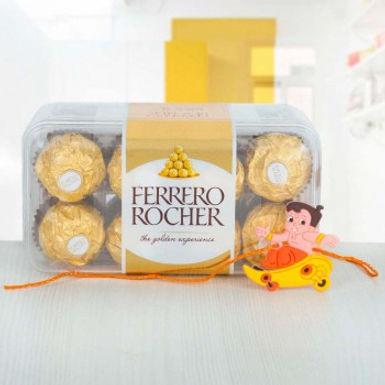 Big Ferrero Rocher Box and Chhota Bheem Rakhi Combo