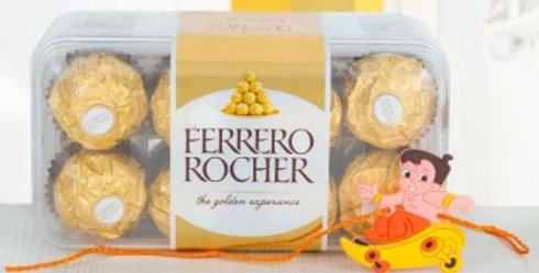 Big Ferrero Rocher Box and Chhota Bheem Rakhi Combo