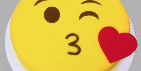 Kissing Emoji Cake