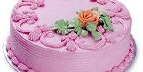 Pink Strawberry Cream Cake