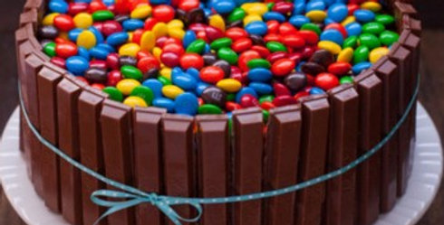 The KitKat and Gem Frenzy Cake
