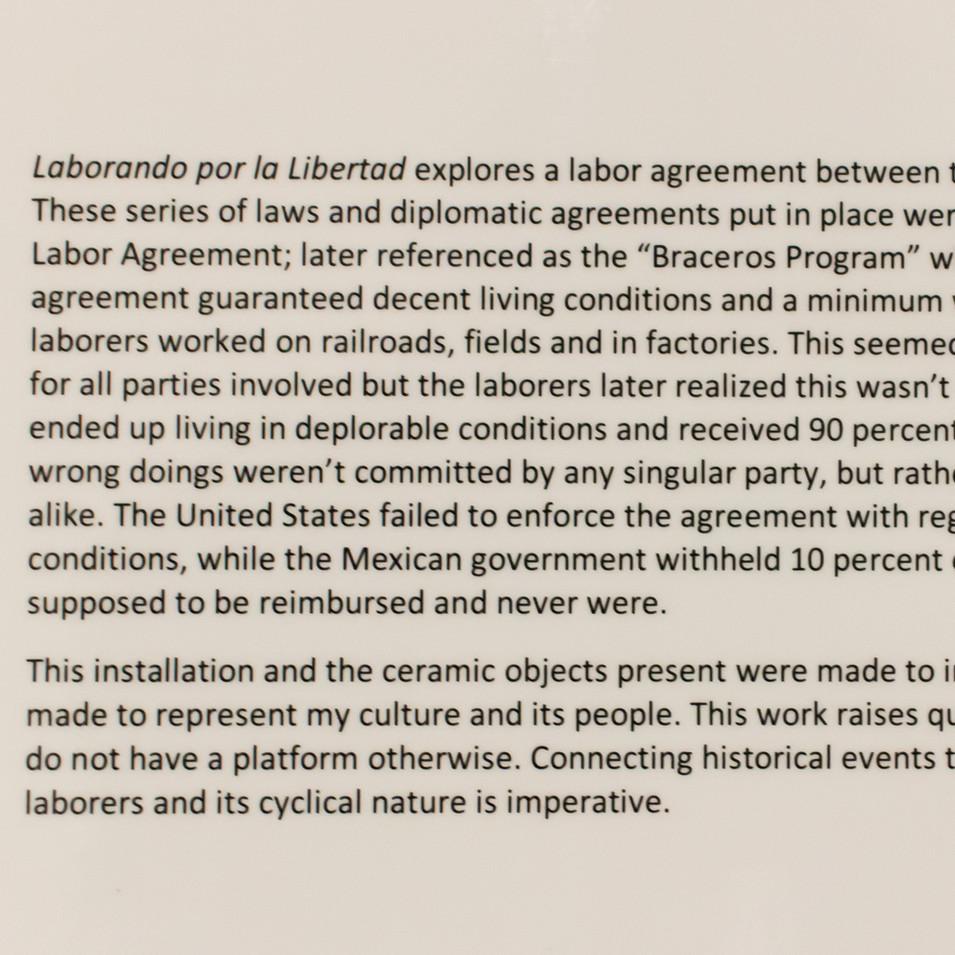 Laborando por la Libertad (wall label)