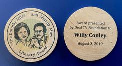 Miles & Mow Literary Award Tokens