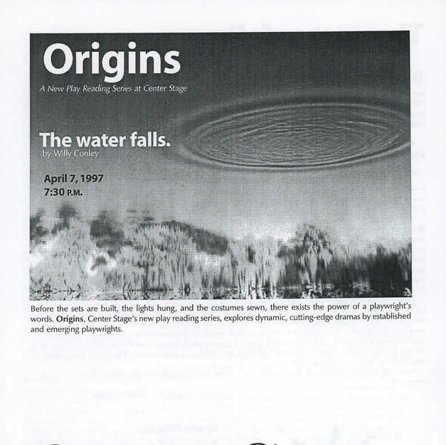 """Staged Reading: """"The water falls."""""""