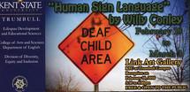 """Postcard photo: """"Deaf Adult Gone"""""""