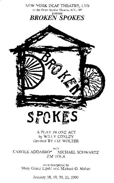 "One act: ""Broken Spokes"""
