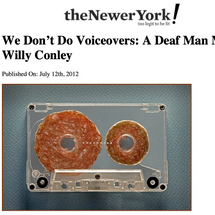 """""""We Don't Do Voiceovers: A Deaf Man Muses"""""""