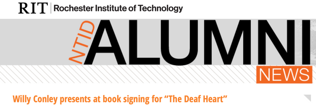 """NTID """"The Deaf Heart"""" Book Signing"""