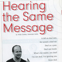 """Article: """"Hearing the Same Message"""""""