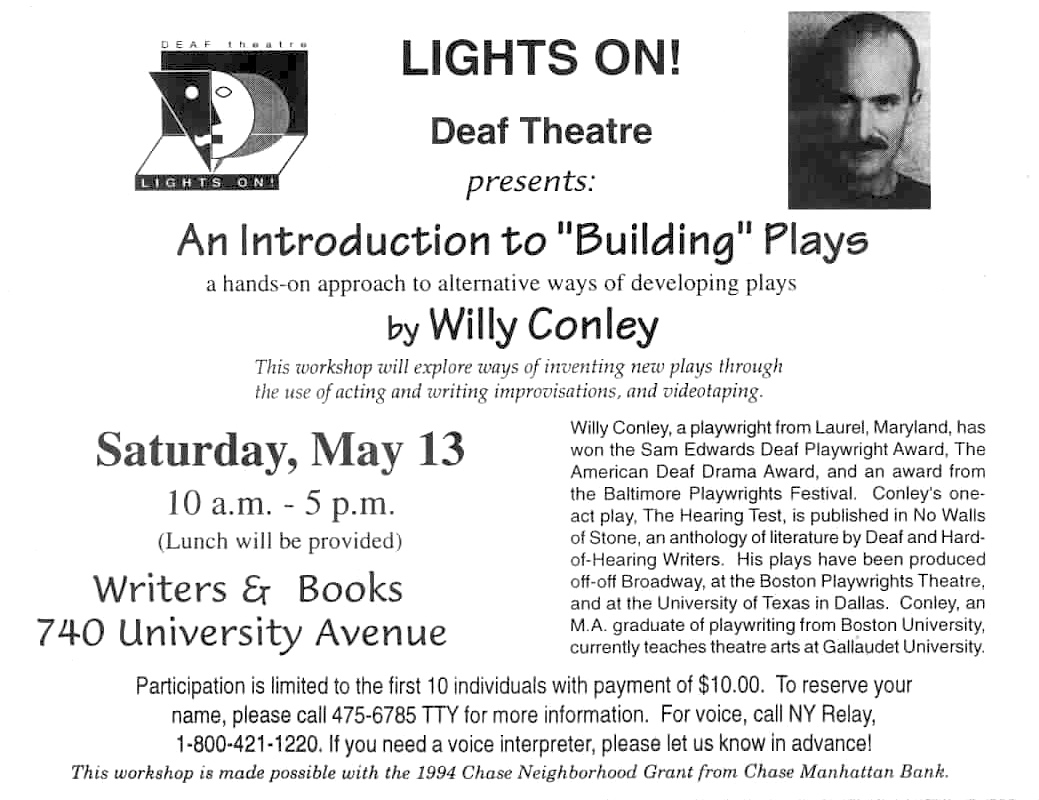 Lights On Workshop ad