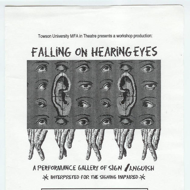 """Thesis Production: """"Falling on Hearing Eyes"""""""