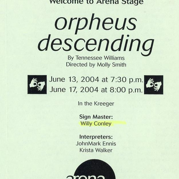 """""""Orpheus Descending"""""""