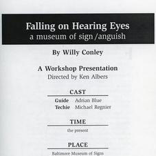 "Workshop Performance: ""Falling On Hearing Eyes"""
