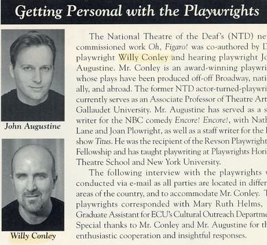 """Article: """"Getting Personal With the Playwrights"""