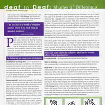 """Article: """"deaf to Deaf: Shades of Difference"""