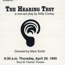 """One-act play: """"The Hearing Test"""""""
