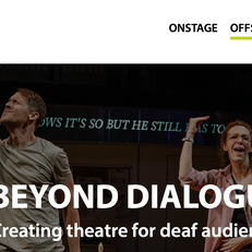 "Writings quoted in ""Beyond Dialogue -- Creating theatre for deaf audiences"""