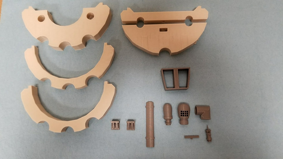 1/50th Scale Bulkhead and detail parts for OTW Upholder