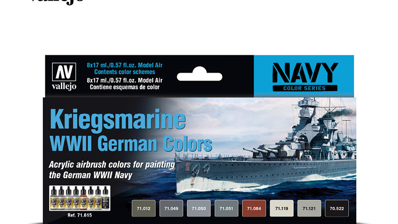 Acrylic Paint Set - Kriegsmarine WWII German Colors
