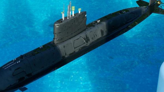 British Upholder Class submarine in 1/50th scale