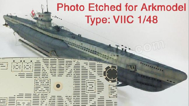 Photoetch Detail Set 1:48 Type VII Uboat - Arkmodel