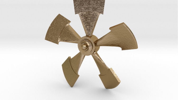 1/77th scale metal propeller for Disney Nautilus