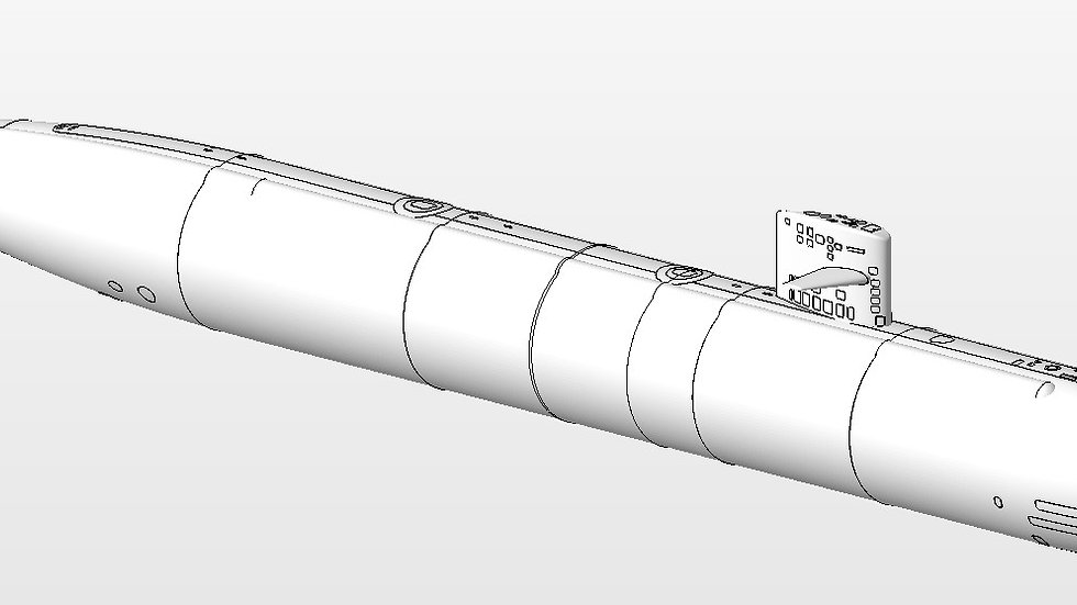 US Los Angeles Attack Submarine 3D files 1:96 scale