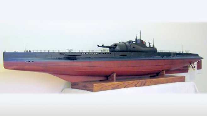 French Surcouf Submarine in 1/50th scale