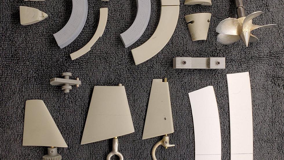 Moebius Skipjack Fittings Kit (1:72 scale)