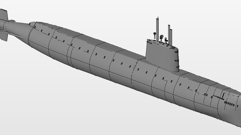 3D Files for USS Nautilus SSN571