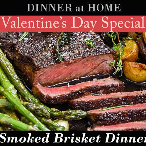 Smoked Brisket Dinner for 1
