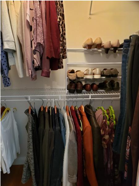 Shirley's pared-down wardrobe