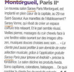 Coiffure de Paris aime Saravy !
