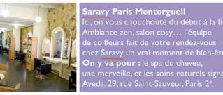 Saravy Paris Montorgueil dans le magazine Public !