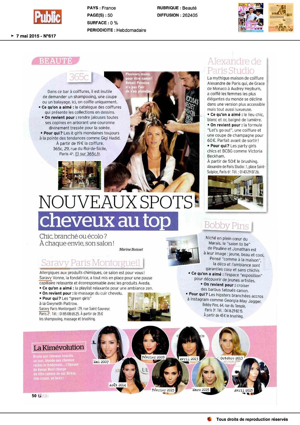 Saravy Paris dans le magazine Public