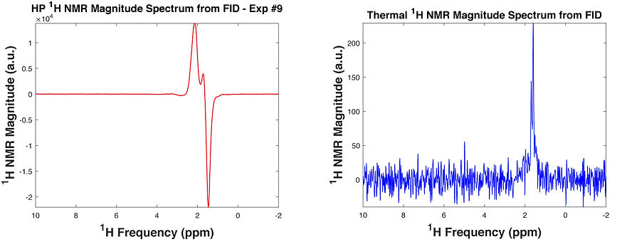 Processed NMR spectra