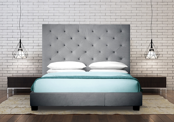 164 King Headboard/Bed/Storage