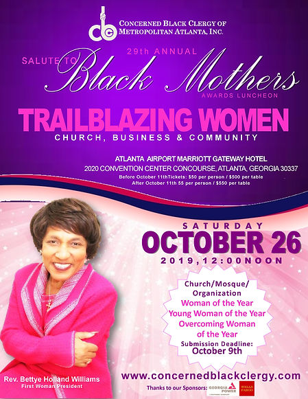 2019 Salute to Black Mothers Official Fl