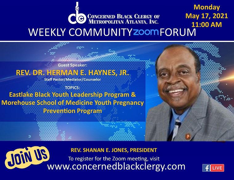 2021 CBC Community Forum Speaker Flyer -