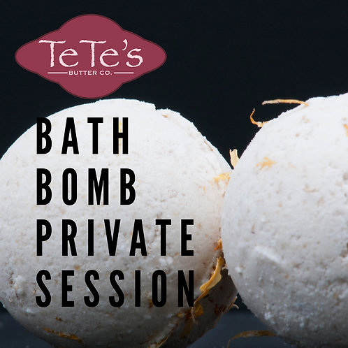 Bath Bomb Private Session-Email to select a date