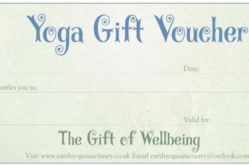 GIFT VOUCHER for 4 x Personal Yoga Sessions