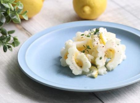 白ゴーヤのレモンオイルサラダ