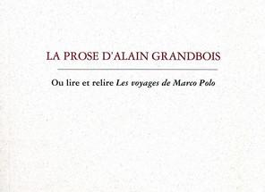 Alain Grandbois et l'autre modernité littéraire