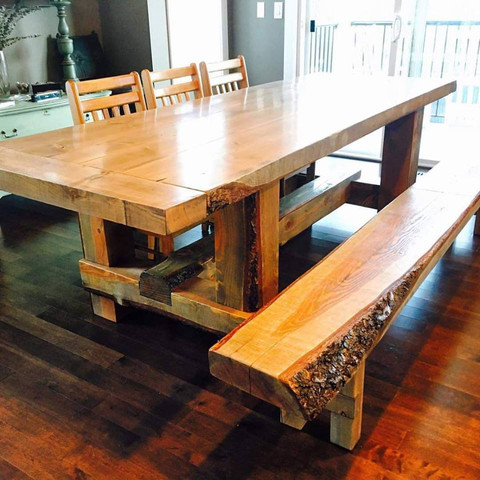 harvest table millwork live edge
