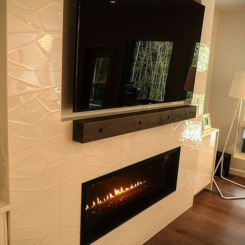 tile fireplace textured