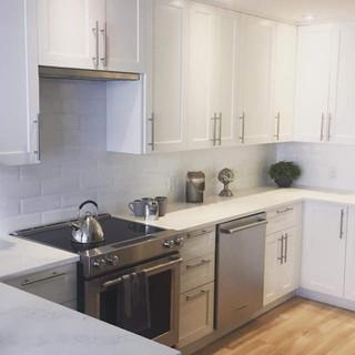 kitchen renovation white subway tile